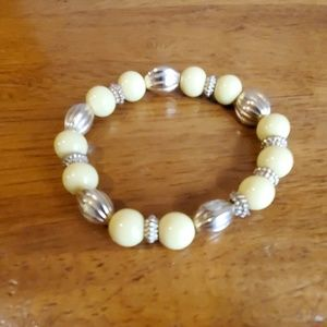 Gold Toned and Yellow Bracelet